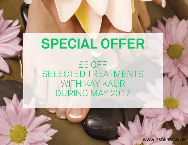 Save £5 on selected treatment this month at Ashlins