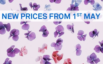 New Price List from 1st May 2017