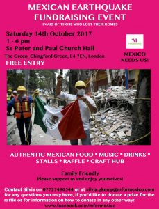 m for mexico fundraising event, chingford