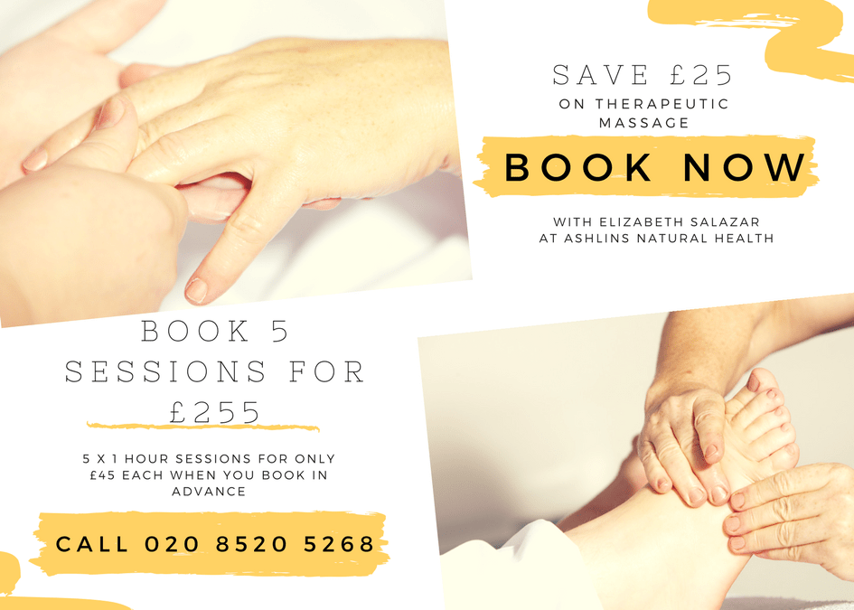 Special Offer: Save £25!  5 x 1 Hour Massage only £225