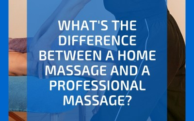 What's the difference between a professional massage and a home massage?