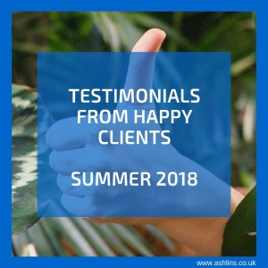 Testimonials from clients of Ashlins Natural Health