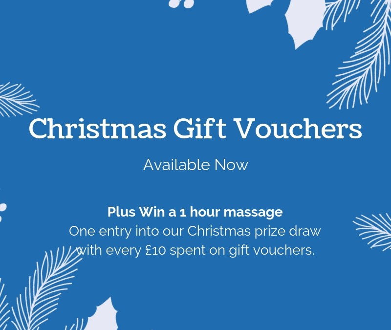 Win a massage when you buy Christmas Gift Vouchers