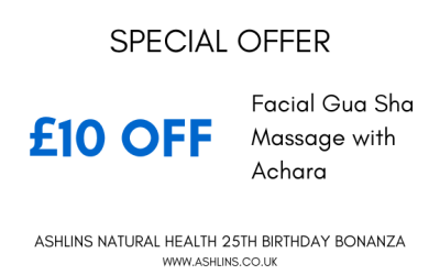 OFFER: £10 off Facial Gua Sha Massage with Achara 27/5/19 – 9/6/19