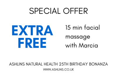 OFFER: Free 15 minute facial massage with Marcia 24/6/19-7/7/19
