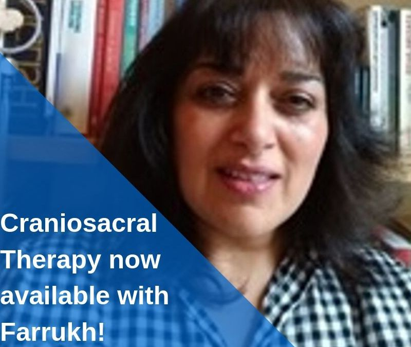 Craniosacral Therapy now available at Ashlins with Farrukh