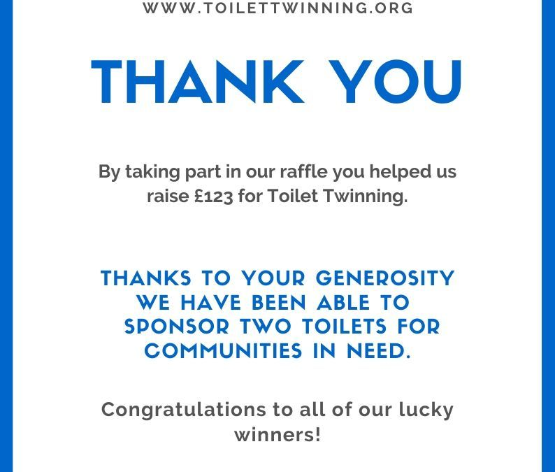 Thank you! Together we've sponsored two toilets for communities in need.