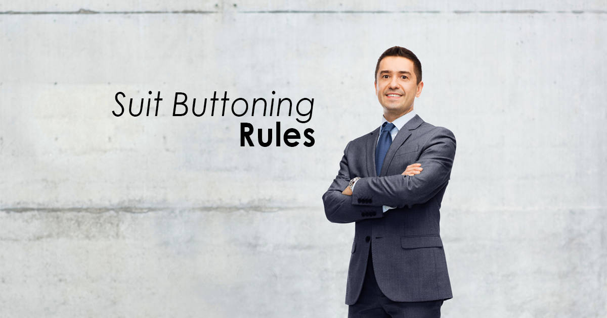 Suit Buttoning Rules