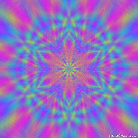 psychedelic mandala graphic