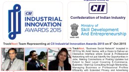 TrackNext Selected as 2nd Level Award Participant in CII Industrial Innovation Awards 2015