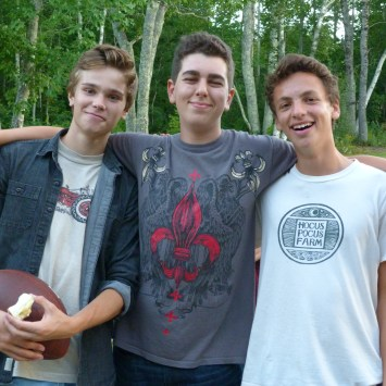Members of the Class of '17: Caleb, Isaiah, Daniel
