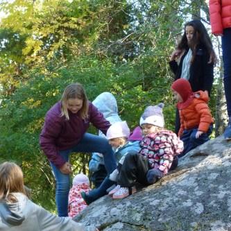 Climbing the big rock