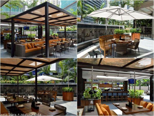 restaurant outdoor patio bars JP TERES- indoor + outdoor restaurant at Grand Hyatt Kuala