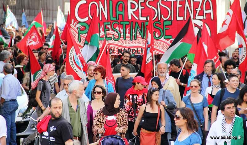 Con la Resistenza Palestinese. Foto Alessio Fratticcioli