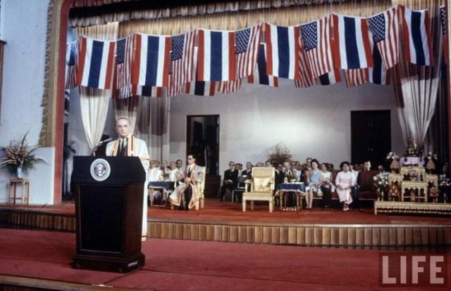Lyndon B. Johnson Rama IX Sirikit Bangkok 1966