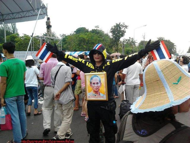 Manifestante Thailandia monarchia