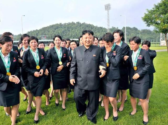 Kim Jong-un Corea del Nord nazionale donne
