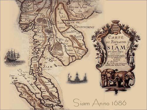 mappa del siam