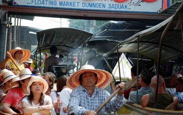thailandia mercato galleggiante Dumnoen Saduak