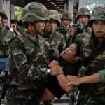 soldati. Bangkok, Thailandia