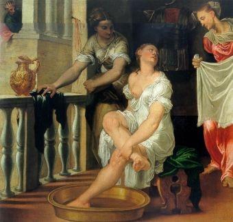 Betsabea al bagno, Domenico Brusasorzi, 1550 - Galleria degli Uffizi, Firenze