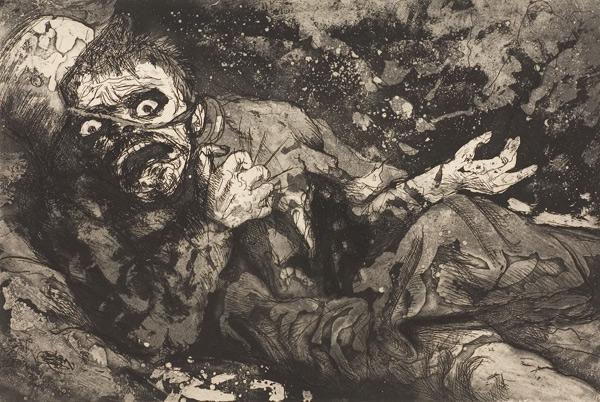 Ferito - Otto Dix, autunno 1916