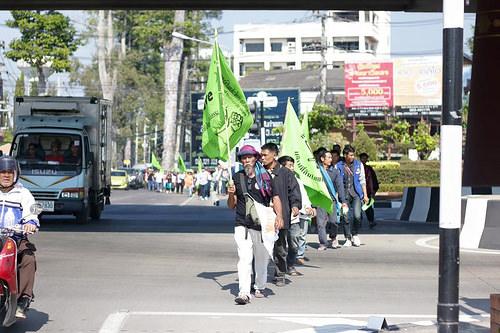 Manifestazione che chiede diritti sulla terra e la riforma agrivola - Chiang Mai l 22 dicembre 2015 (per gentile concessione di Nord Farmers Federation)