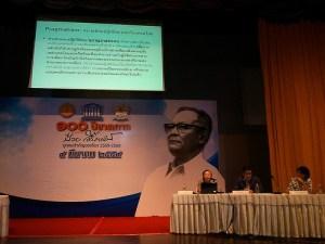 9 marzo 2016 - Dibattito alla Thammasat University per il centenario di Puey Ungpakorn
