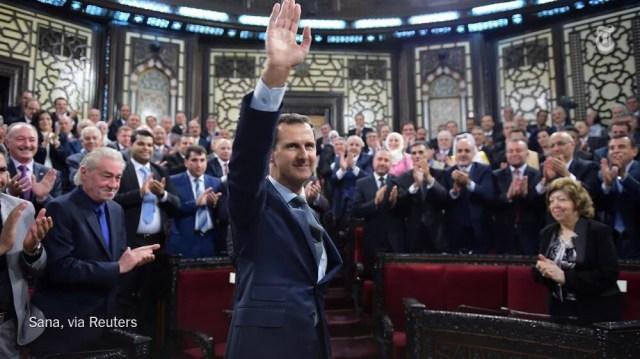 Siria Assad Damasco parlamento discorso