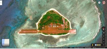 Thitu Island, controllata dalle Filippine, con i suoi 37 ettari di superficie e' l'isola più grande delle Spratly Islands dopo Itu Aba (controllata da Taiwan).