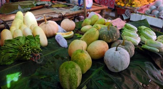 Zucche in vendita al mercato
