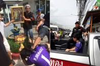 Ragazzo malmenato, insultato e costretto ad inginocchiarsi davanti ad un ritratto. L'aggressione e' avvenuta la settimana scorsa nella provincia di Chonburi, in Thailandia.