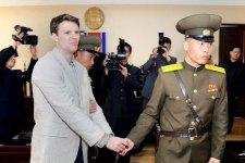 Una delle ultime immagini di Otto Warmbier, lo studente statunitense di 22 anni deceduto dopo un anno e mezzo di prigionia in Corea del Nord.
