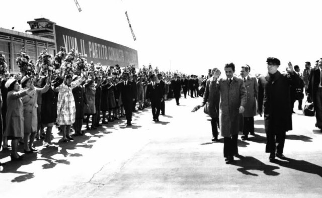 Berlinguer e Kim Il-sung a Pyongyang