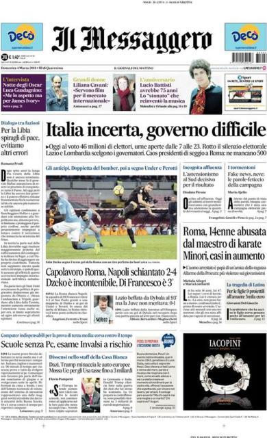 elezioni_prima_pagina_Messaggero