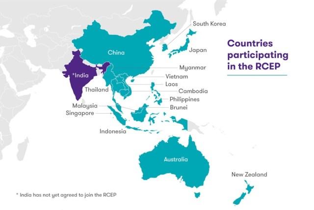 RCEP-Asia-mappa