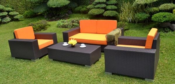 Set Kursi Sofa Rotan Sintetis Outdoor