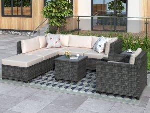 Sofa Sudut Rotan Minimalis
