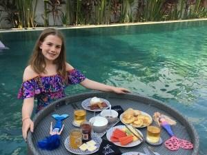 Swimming Pool Floating Tray Rattan Breakfast