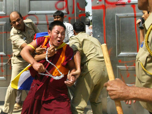 Not the Dalai Lama but rather the India Tibet Protest