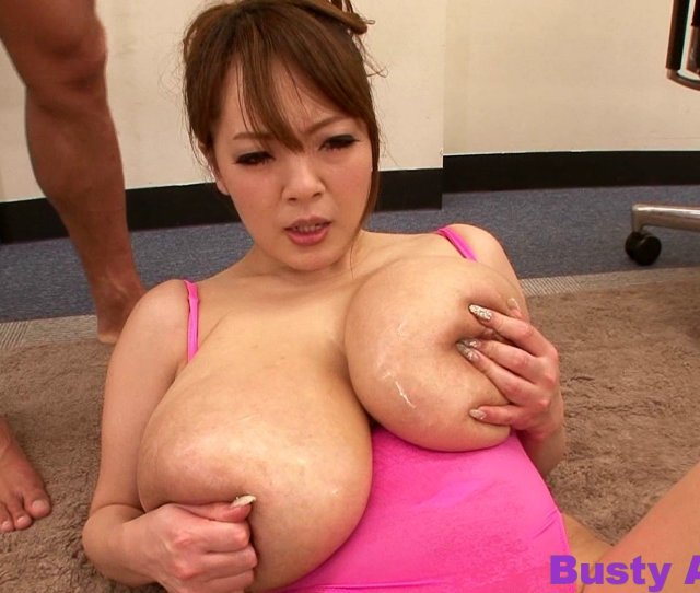 Busty Asian Hitomi Tanaka Babe With Oil Massage In Her Big Tits By Her Office Partner
