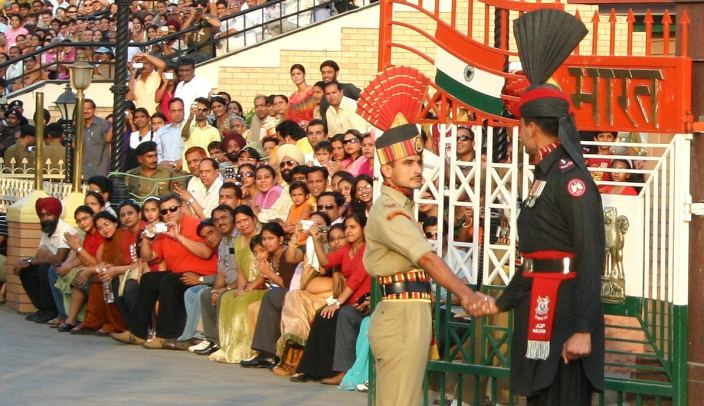 Wagah border cross ceremony between India and Pakistan. Photo credit: Joshua Song
