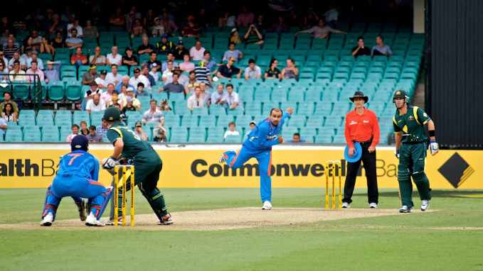 Australia and India, friends and foes on the pitch. Photo: Jason Wong