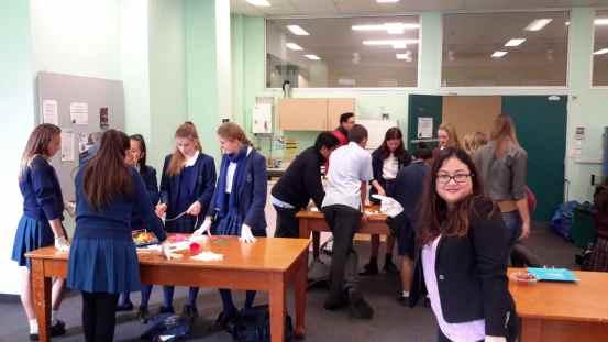 AIYA volunteer Virania Munaf monitoring cooking students