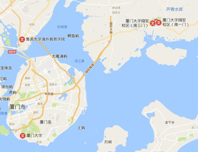 Xiamen University Map