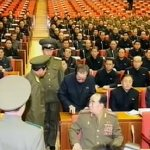A picture issued by the North Korean state-run media as the scene of the arrest of former Vice Chairman of National Defense Commission, Jang Song-thaek at the Korean Workers' Party Politburo expanded meeting on Dec.2013. The series of purges related to Jang continues unabated. (A screen grab from North Korean state-run KCTV)