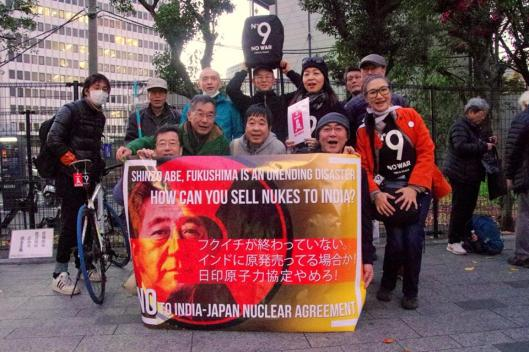 Protest in Tokyo Against India-Japan Nuclear Agreement