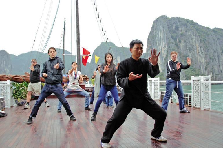 Tai Chi class on Cruise