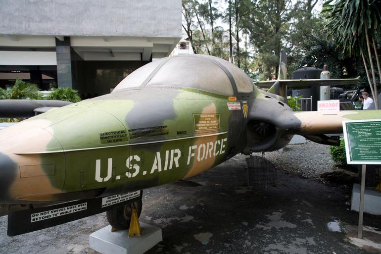 US Airforce plane outside the War Remnants Museum, Saigon