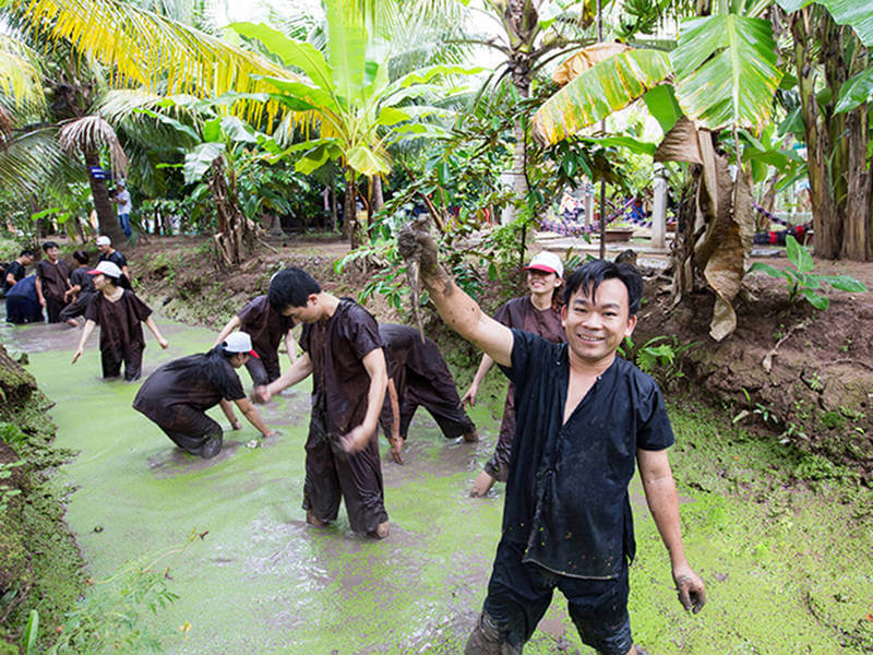 Experience some games in Tien Giang
